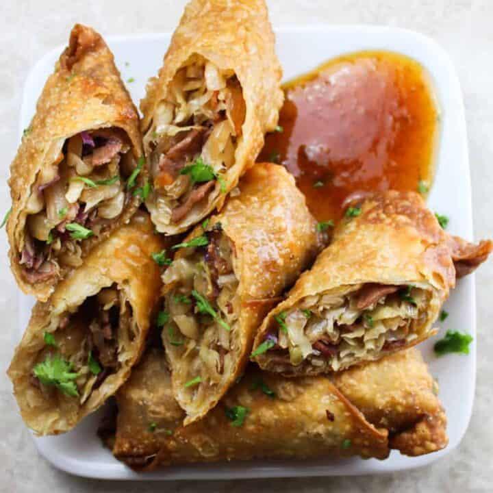 pastrami egg rolls