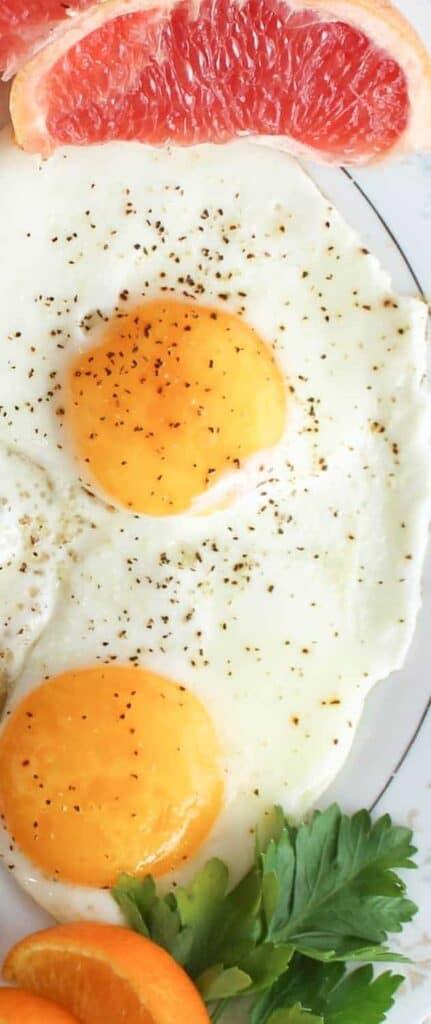 eggs grapefruit and oranges