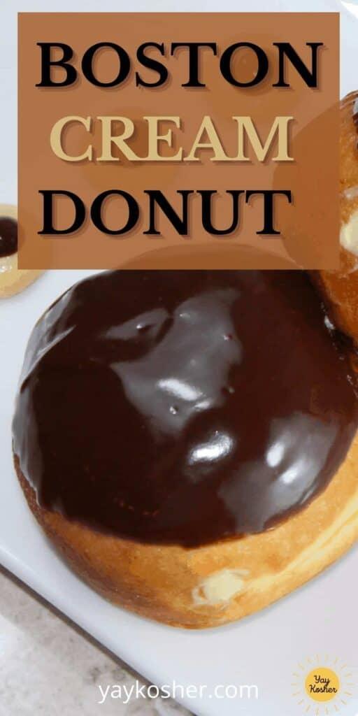 boston cream donut sufganiyot