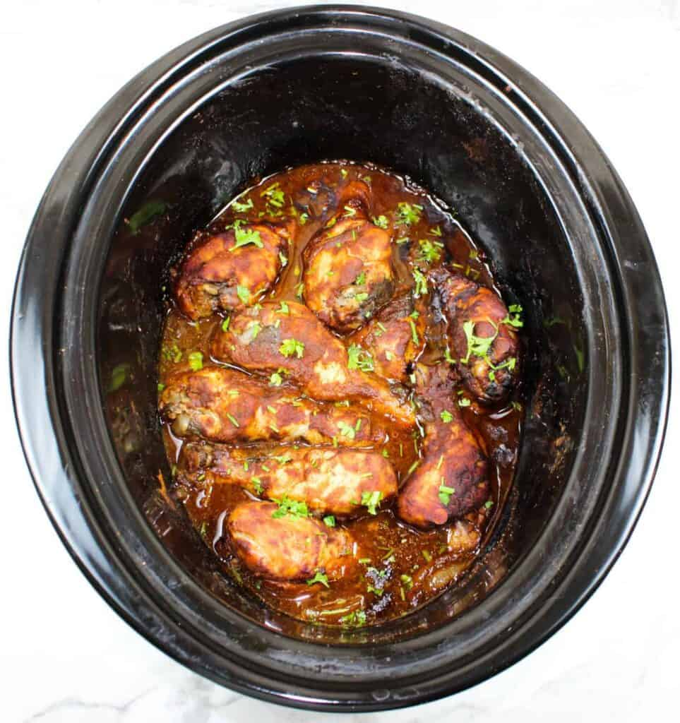 bbq chicken in a slow cooker