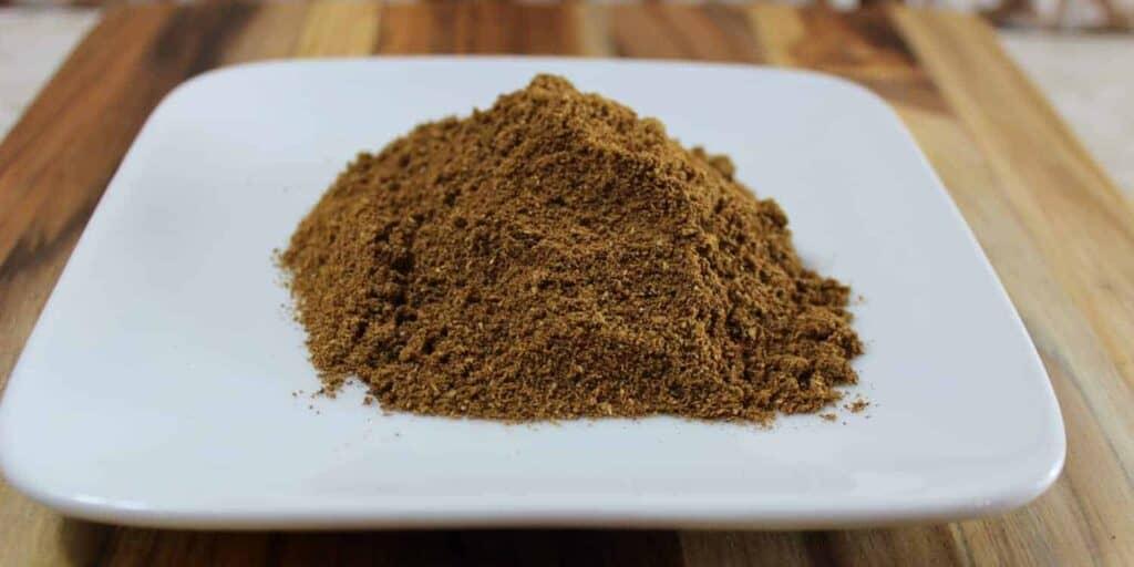 close up of garam masala