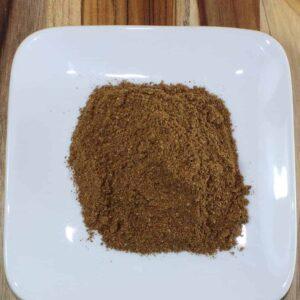 garam masala on a plate