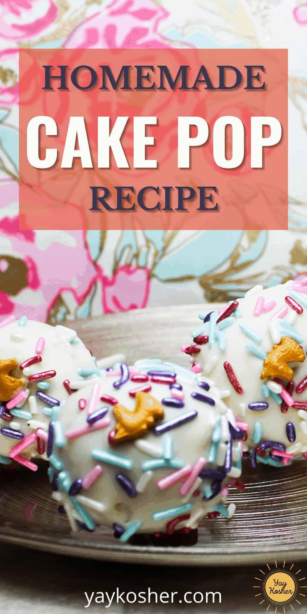 homemade cake pops