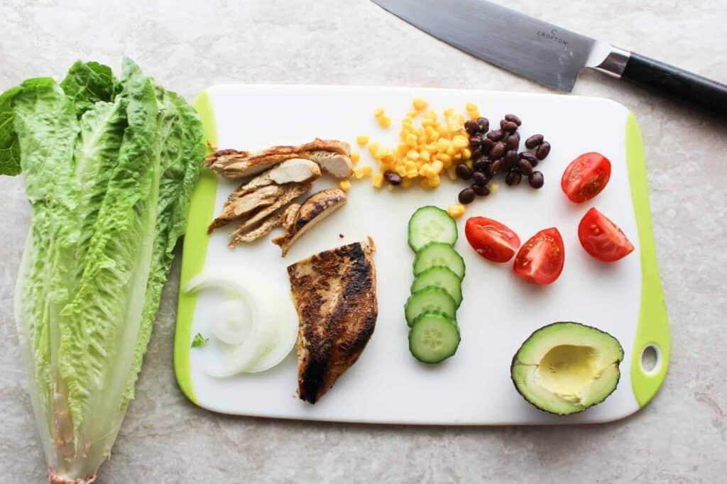 bbq chicken salad veggies