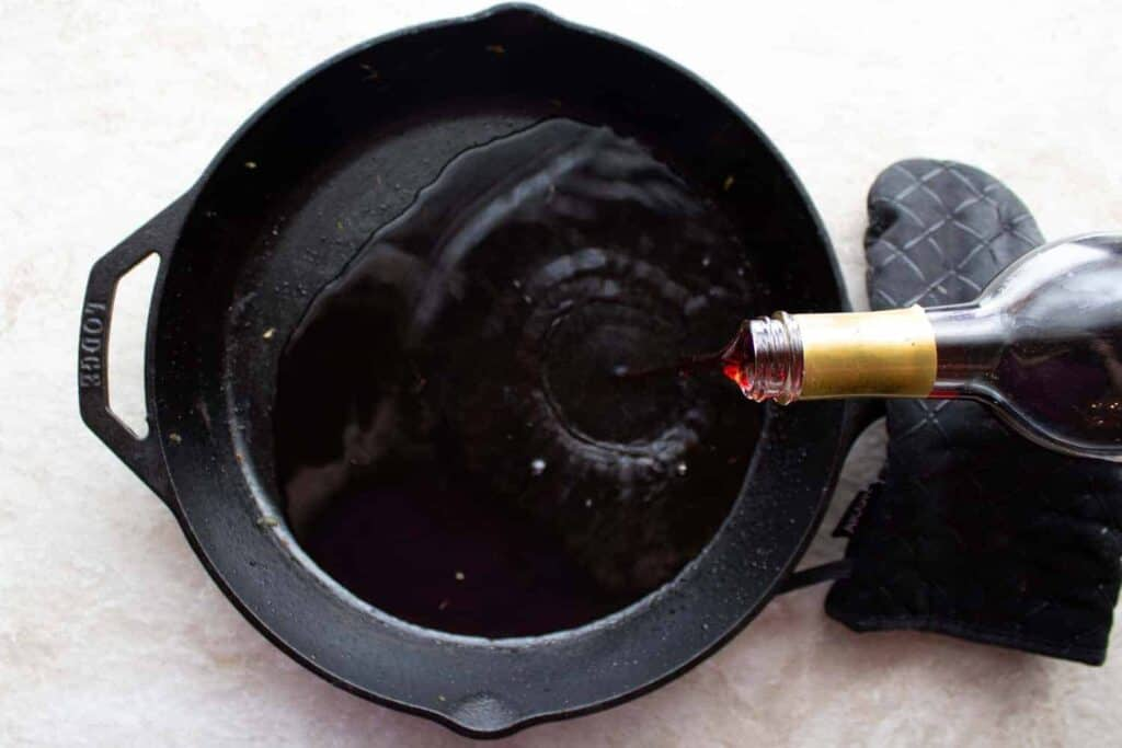 deglazing the pan