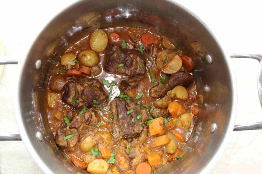 lamb stew in a pot