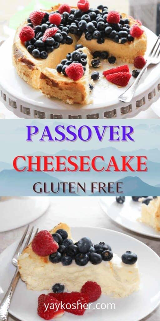 passover cheesecake pinterest image