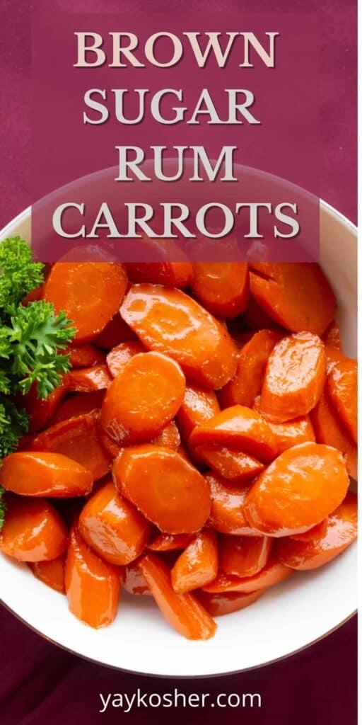 brown sugar rum carrots
