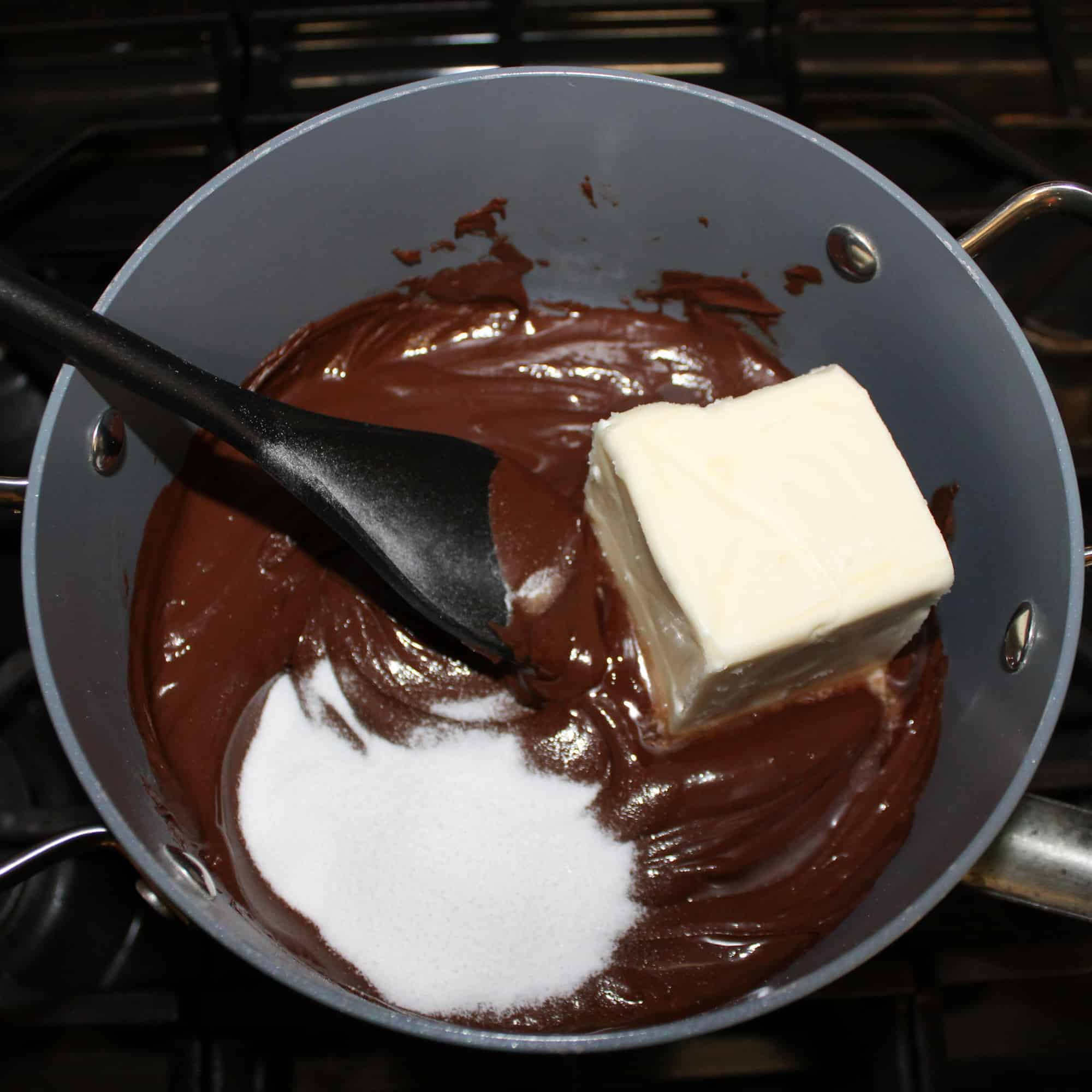 add butter and sugar