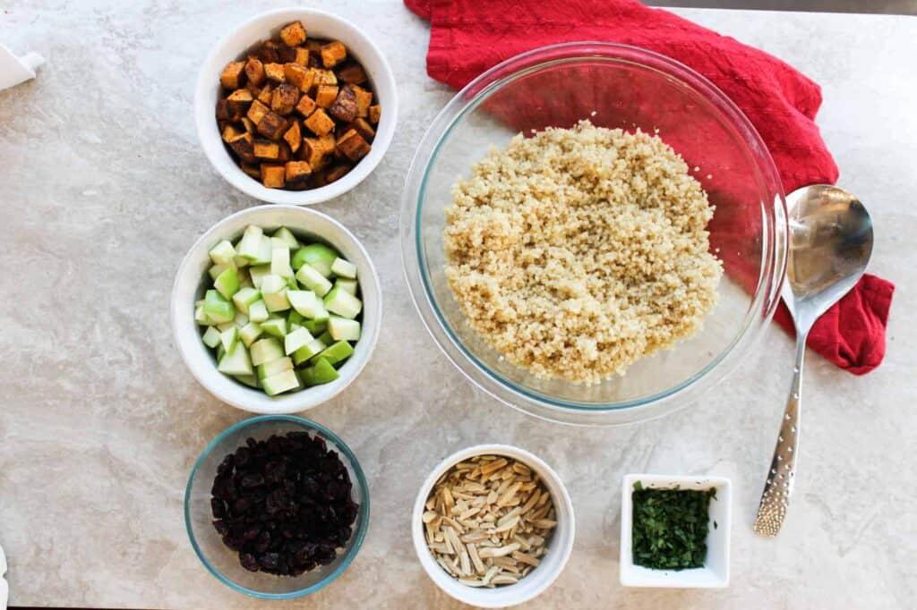 ingredients quinoa with cranberries