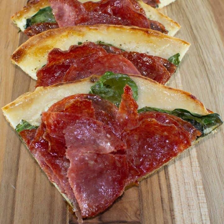 kosher salami flatbread