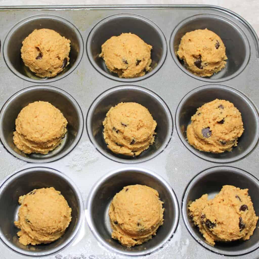 spiced pumpkin muffins in a muffin tin 2
