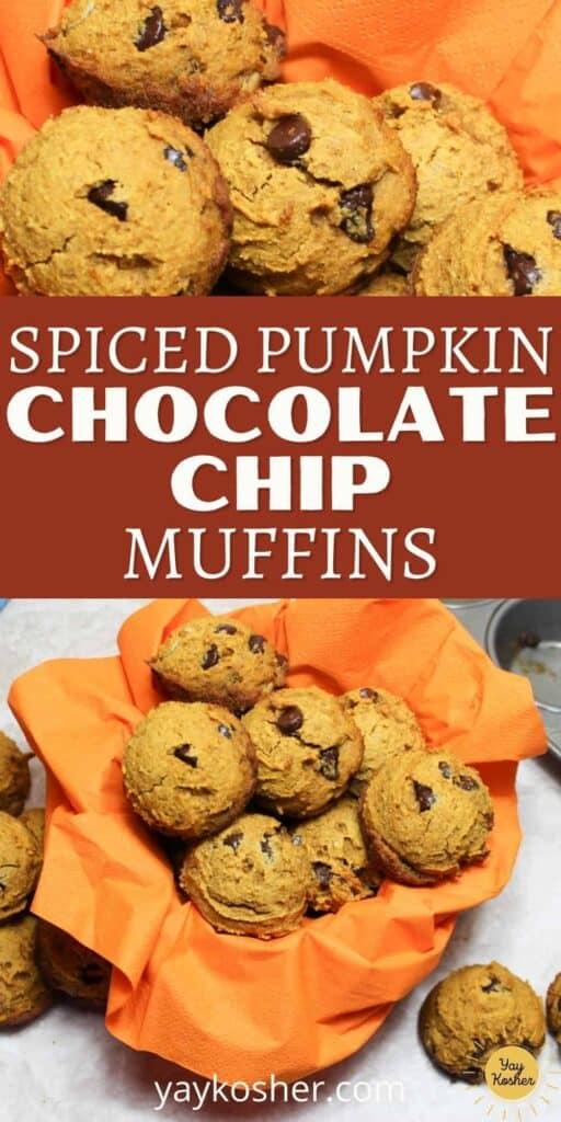 spiced pumpkin muffins pin