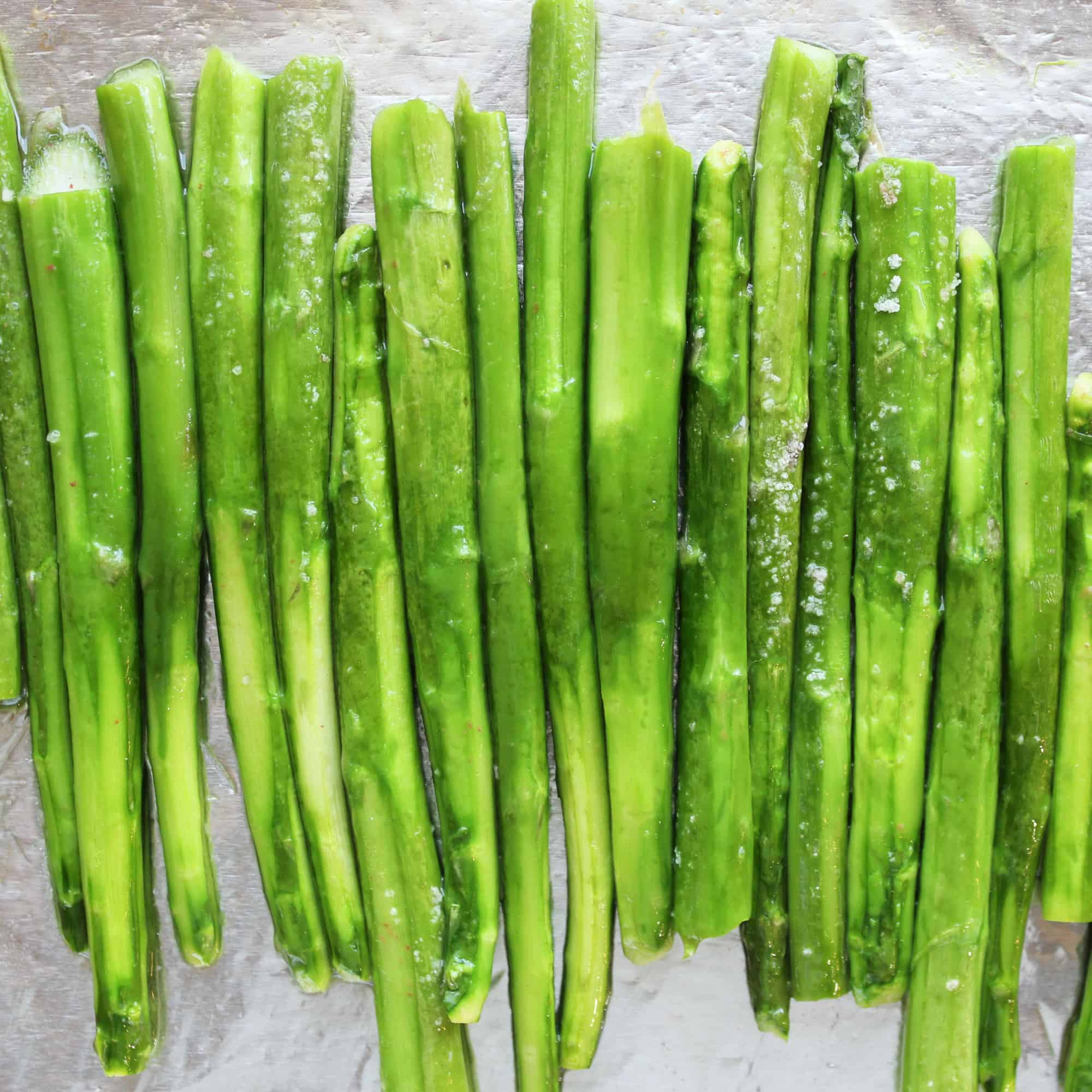 asparagus fresh out of the oven