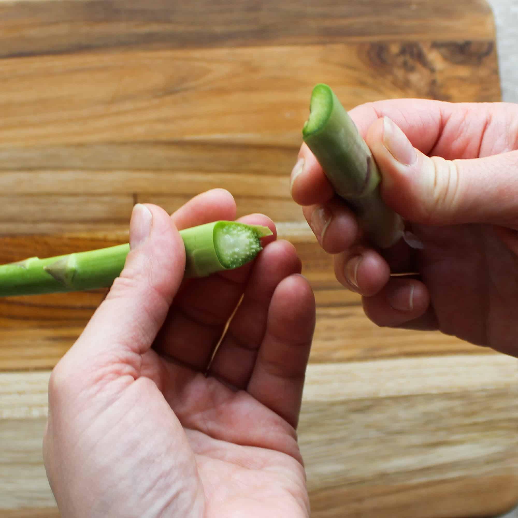 snap the asparagus