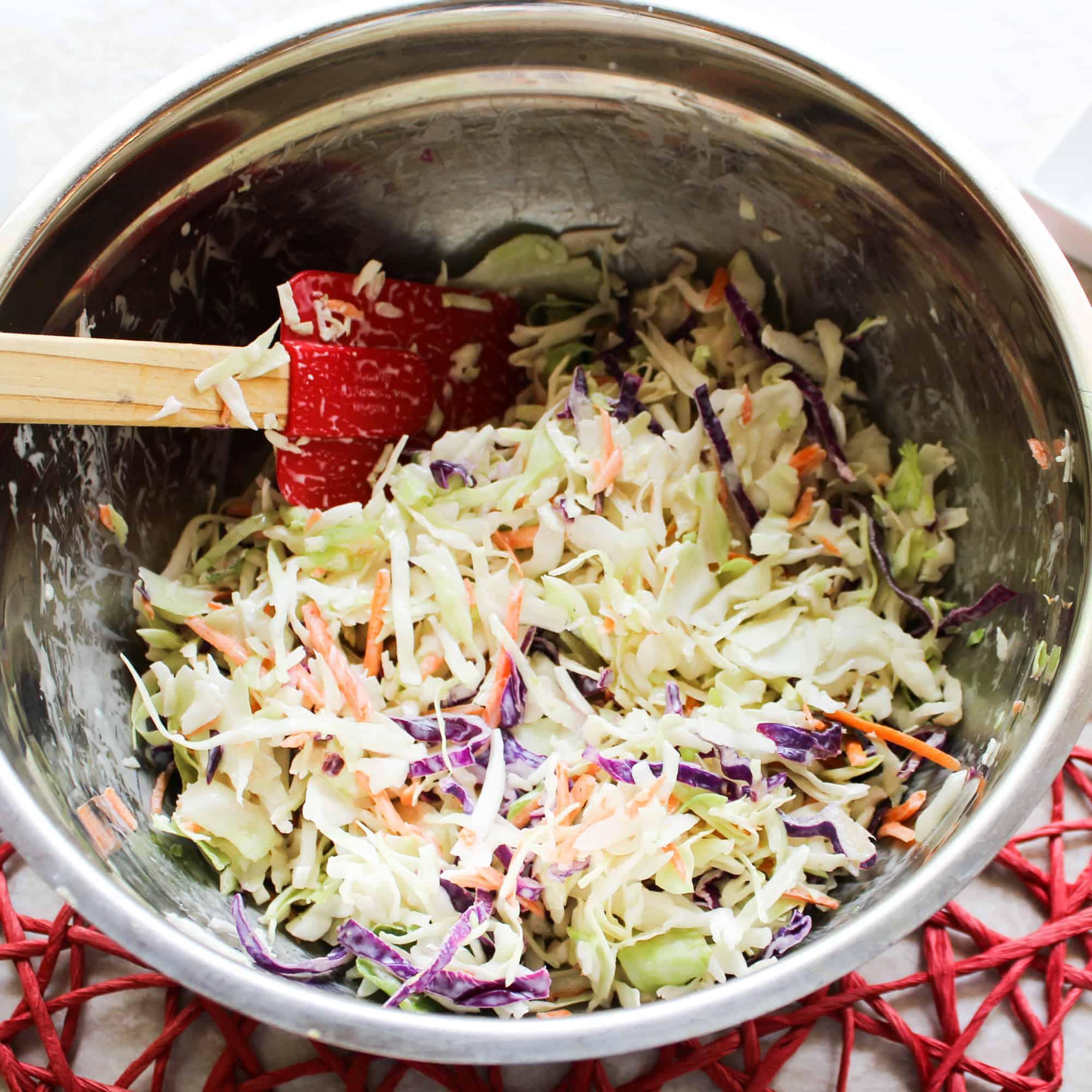 mix coleslaw