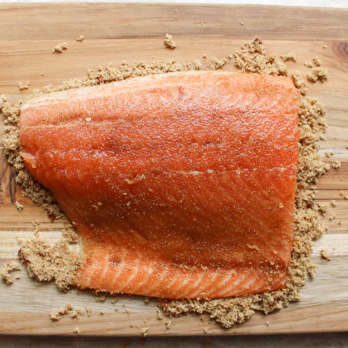 salmon rubbed with spice rub
