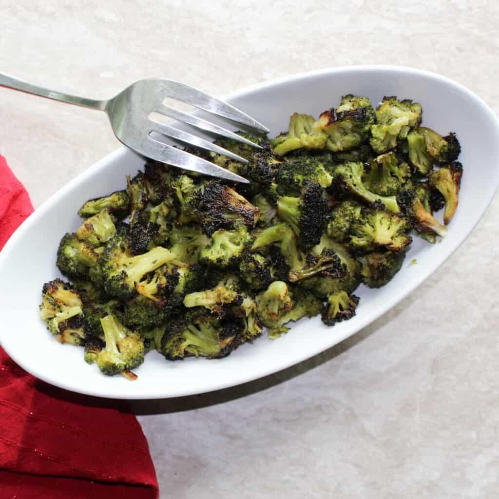 broccoli in a dish