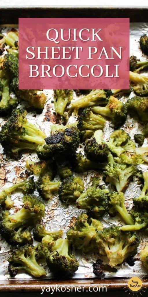 sheet pan broccoli pin