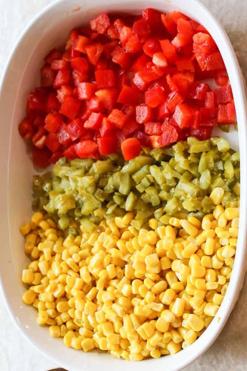 corn salad veggies