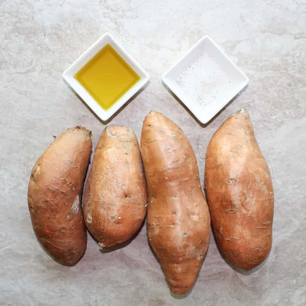 ingredients for sweet potato rounds