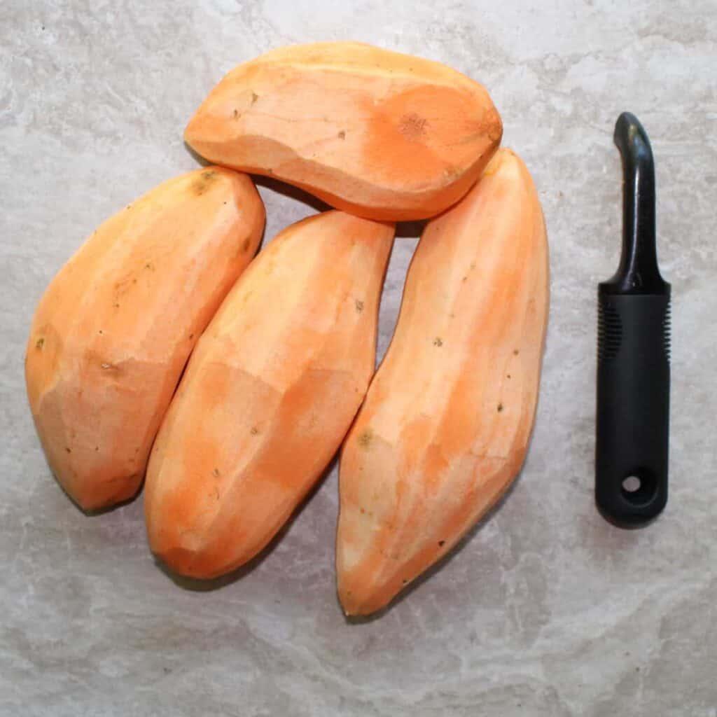 peel the sweet potato