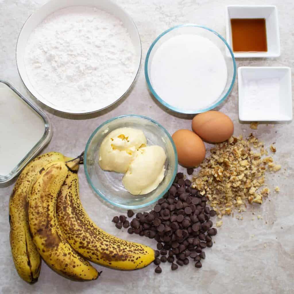 ingredients for banana cake
