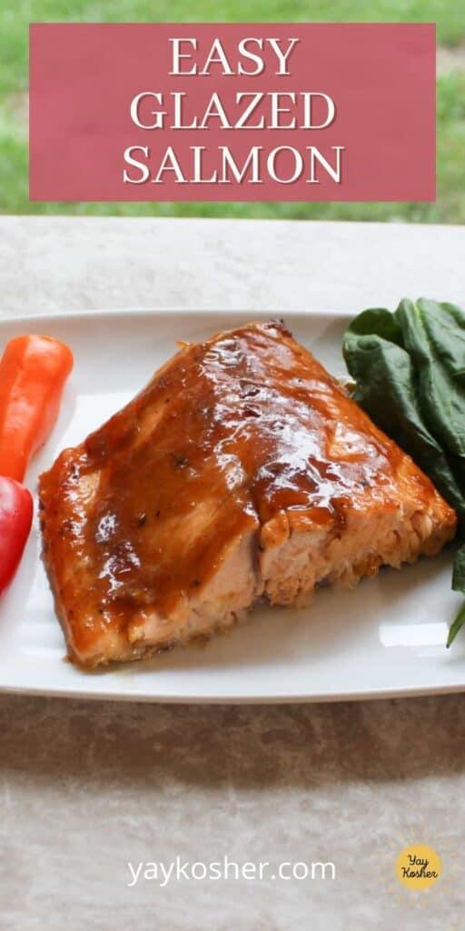 easy glazed salmon pin