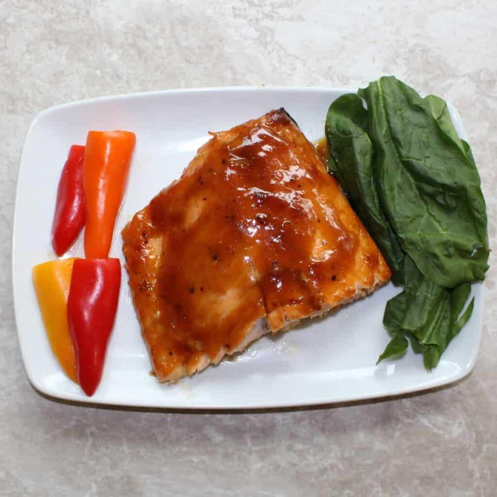 glazed salmon top down