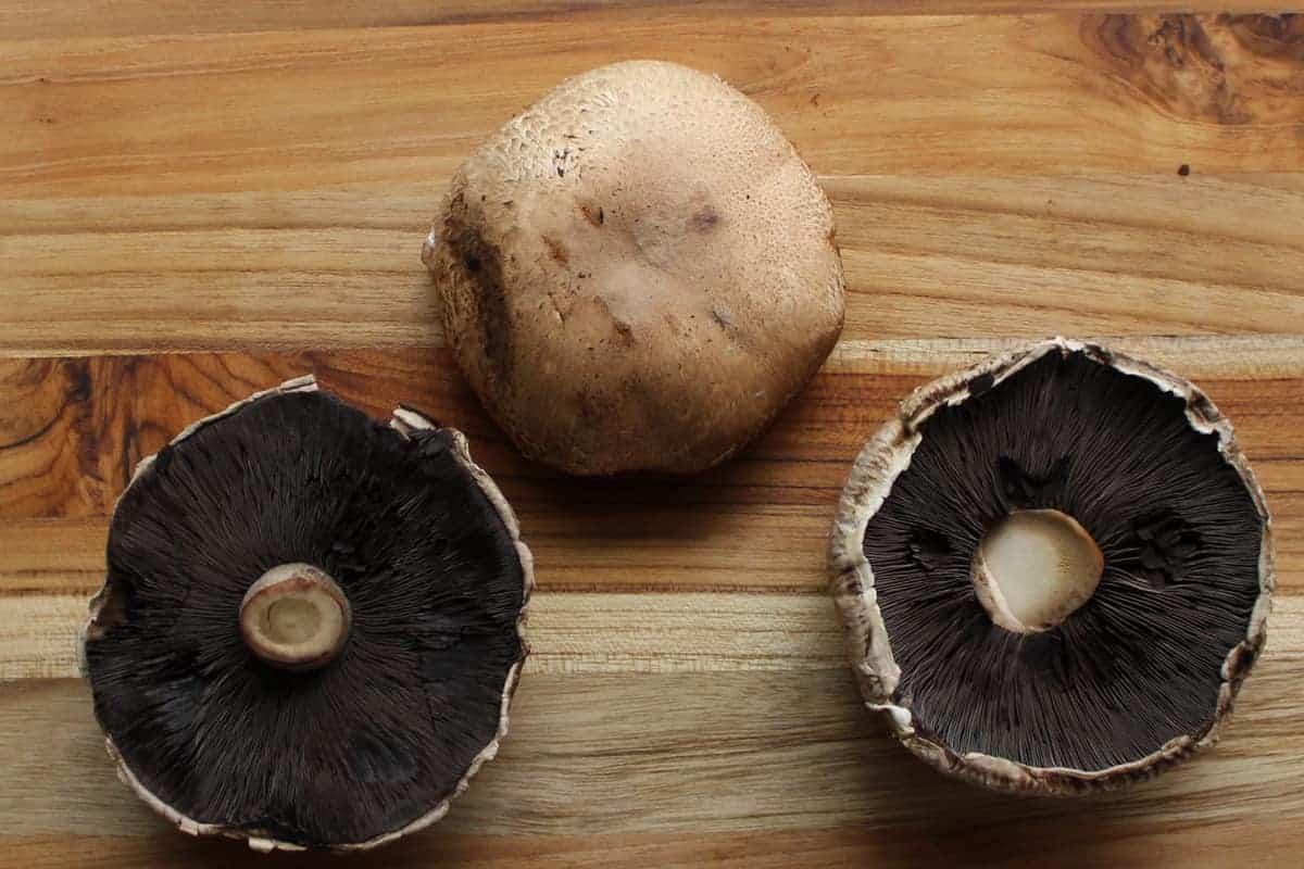 washed portobello mushroom caps