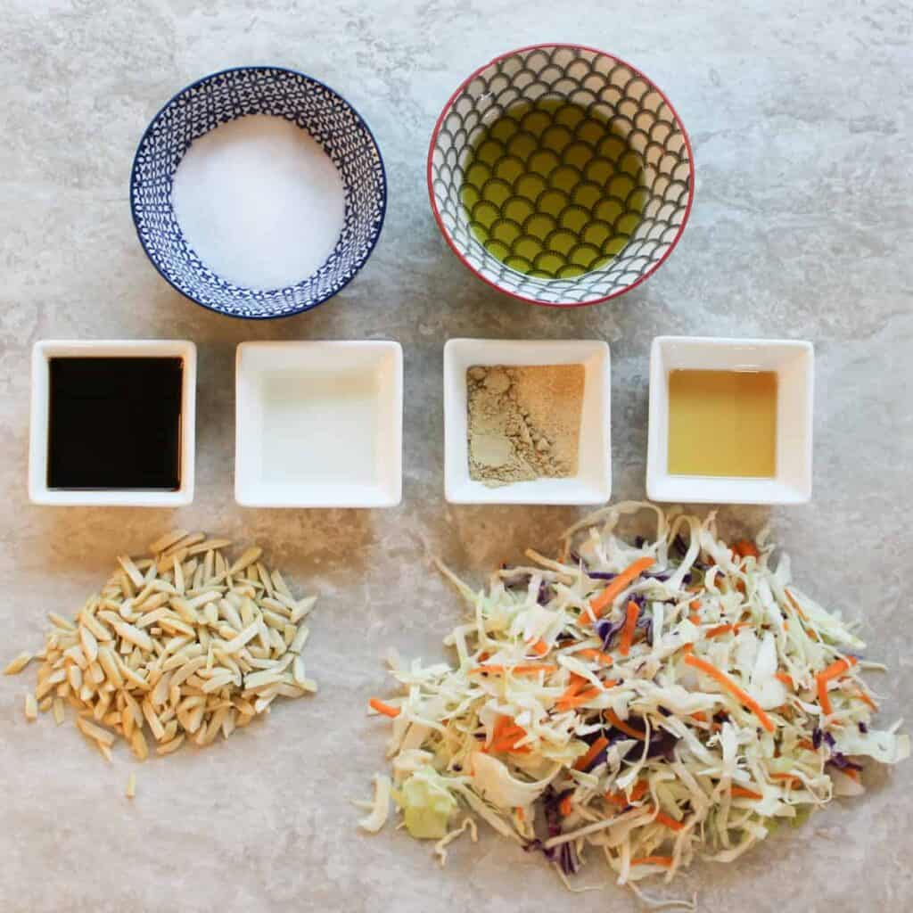 ingredients for asian slaw