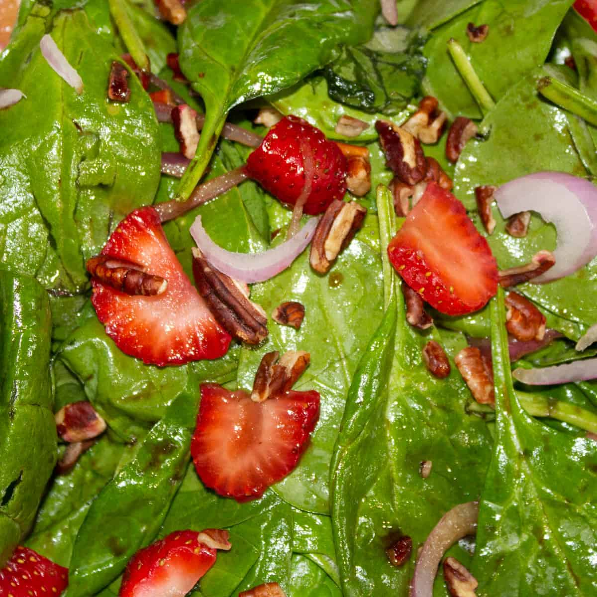 strawberry salad close up